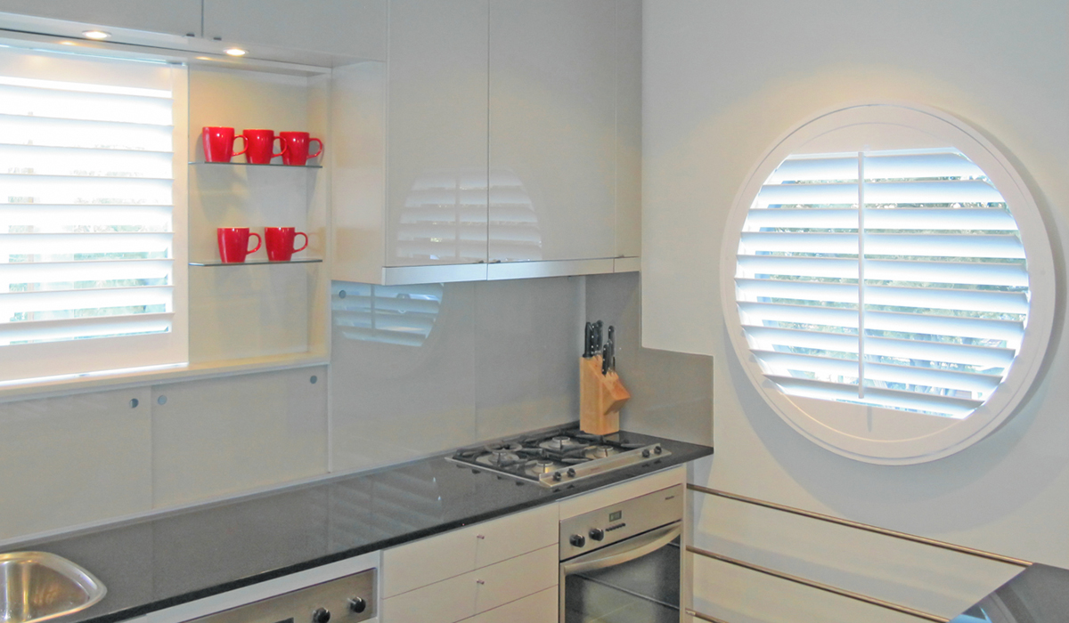Hardwood Shutters - Circular - Nth Sydney