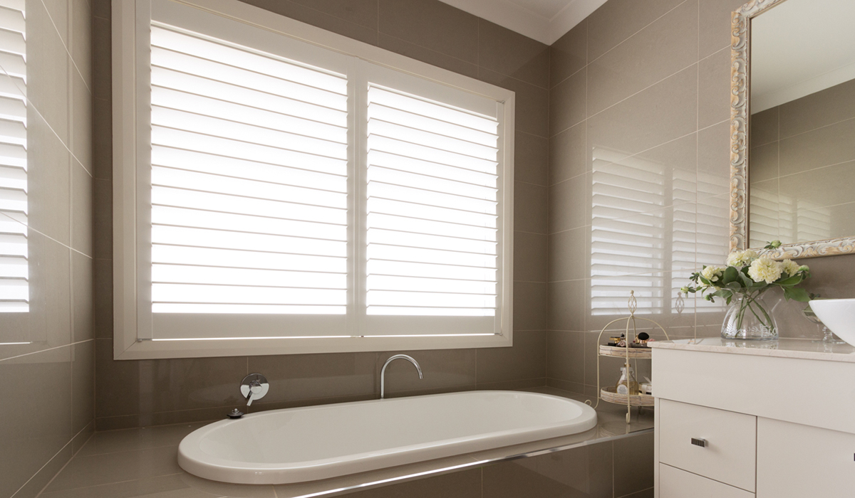 Hardwood Shutters Hinged - Bathroom 2