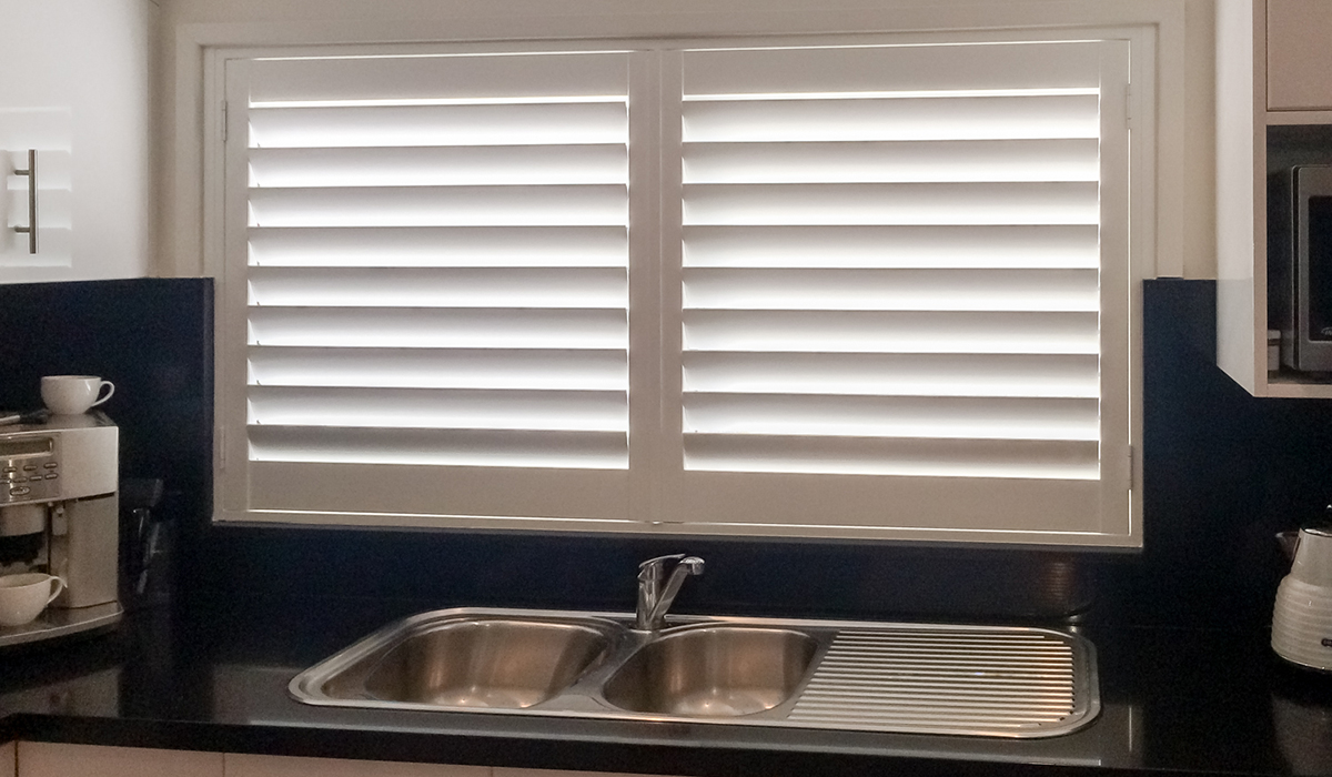 Hardwood Shutters Hinged - Kitchen