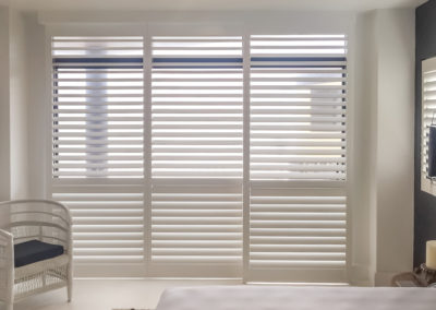 Hardwood Shutters Sliding - Bedroom - Newport