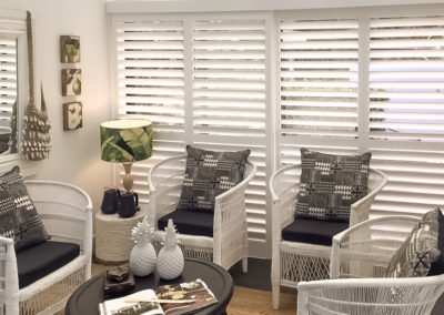 Hardwood Shutters Sliding - Doors in Sitting Room