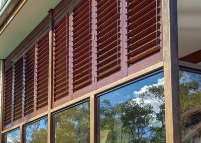 Aluminium Shutters - Bi-folds with Wood Graing Wrap 3