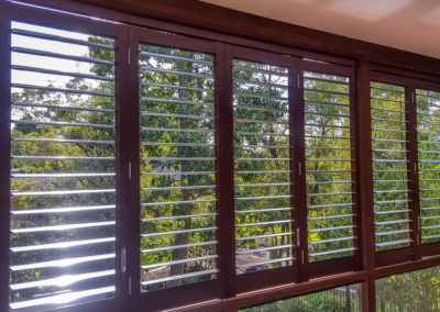 Aluminium Shutters - Bi-folds with Wood Graing Wrap 5