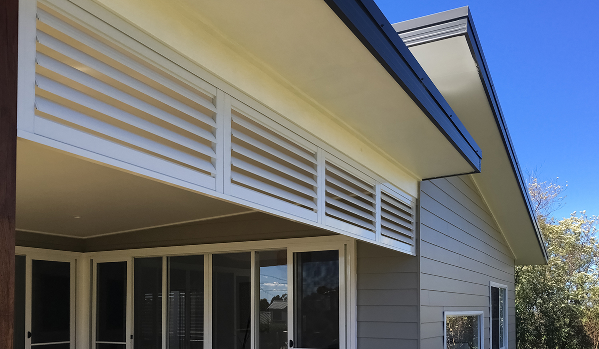 Aluminium Shutters - Fixed In Place 2