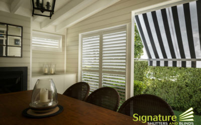 Photo Of The Week – External Aluminium Shutters with Pivot Arm Awning